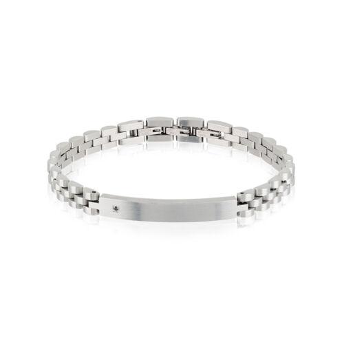 TJ2399 Bracciale Uomo Acciaio e Diamante Nero Black Diamond Breil