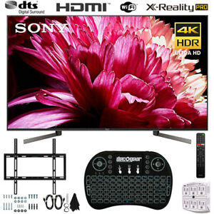 Sony-55-034-BRAVIA-4K-HDR-UHD-Smart-TV-Wireless-Keyboard-Wall-Mounting-Bundle
