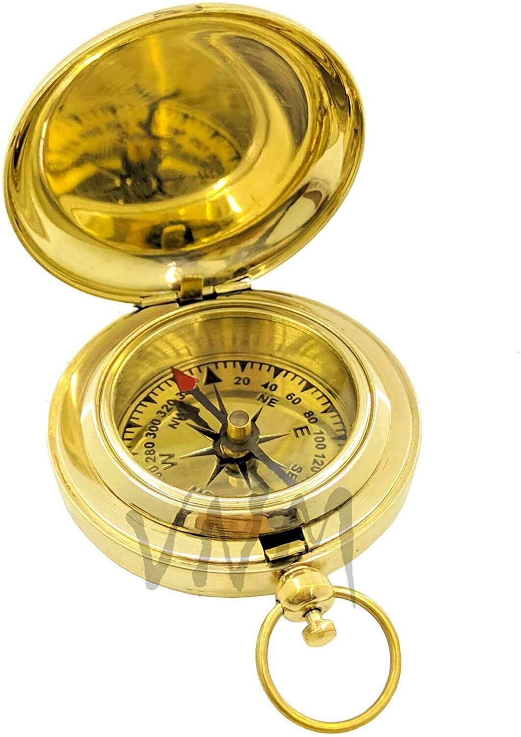 Collectible Vintage Pocket Golden Bass Compass for Hiking & Camping/Best Gift