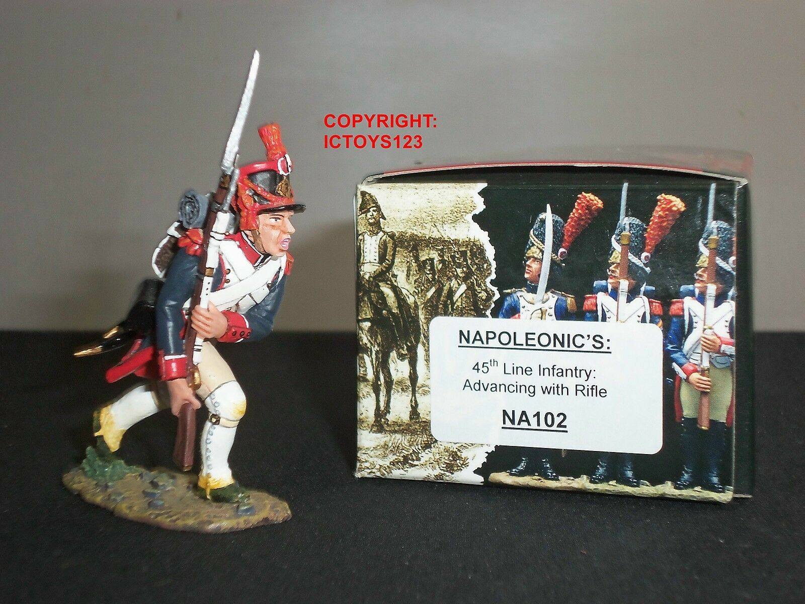KING AND COUNTRY NA102 FRENCH 45TH LINE INFANTRY ADVANCING WITH RIFLE SOLDIER