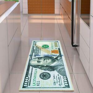 Money-Runner-Rug-100-Dollar-Bill-22-034-x-53-034-Non-Slip-Home-Floor-Decor-Carpet-NEW