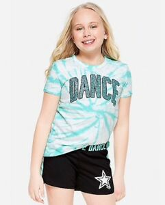 Justice Girl's Size 6-7 GYMNAST Sparkle Shorts New with Tags