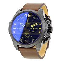 Diesel Mens Oversize Ironside Chronograph Watch Brown Leather Strap DZ4364