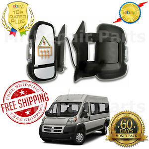 Side Mirror EXTENDED for 14-17 RAM PROMASTER POWER Heated Signal Driver Left