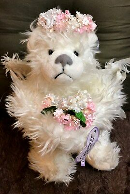 "Annette Funicello Well-Educated Annette Funicello ""starlight"" Plush Angel Bear 12th In Angel Collection Dolls & Bears"