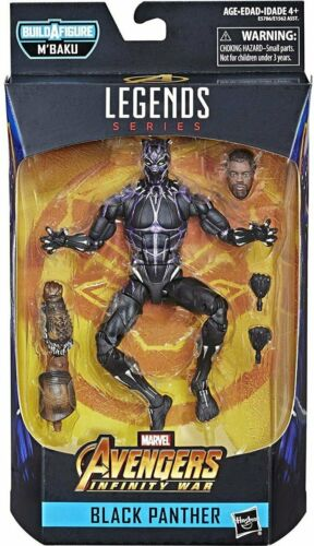 Black Panther Marvel Legends Vibranium Black Panther Action Figure with M/'Baku B