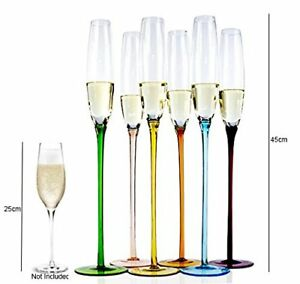 extra tall set of 6 champagne glasses flutes glassware dinner