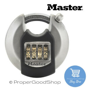 Master-Lock-EXCELL-M40EURDNUM-HIGH-SECURITY-COMBINATION-DISCUS-PADLOCK-70mm-NEW