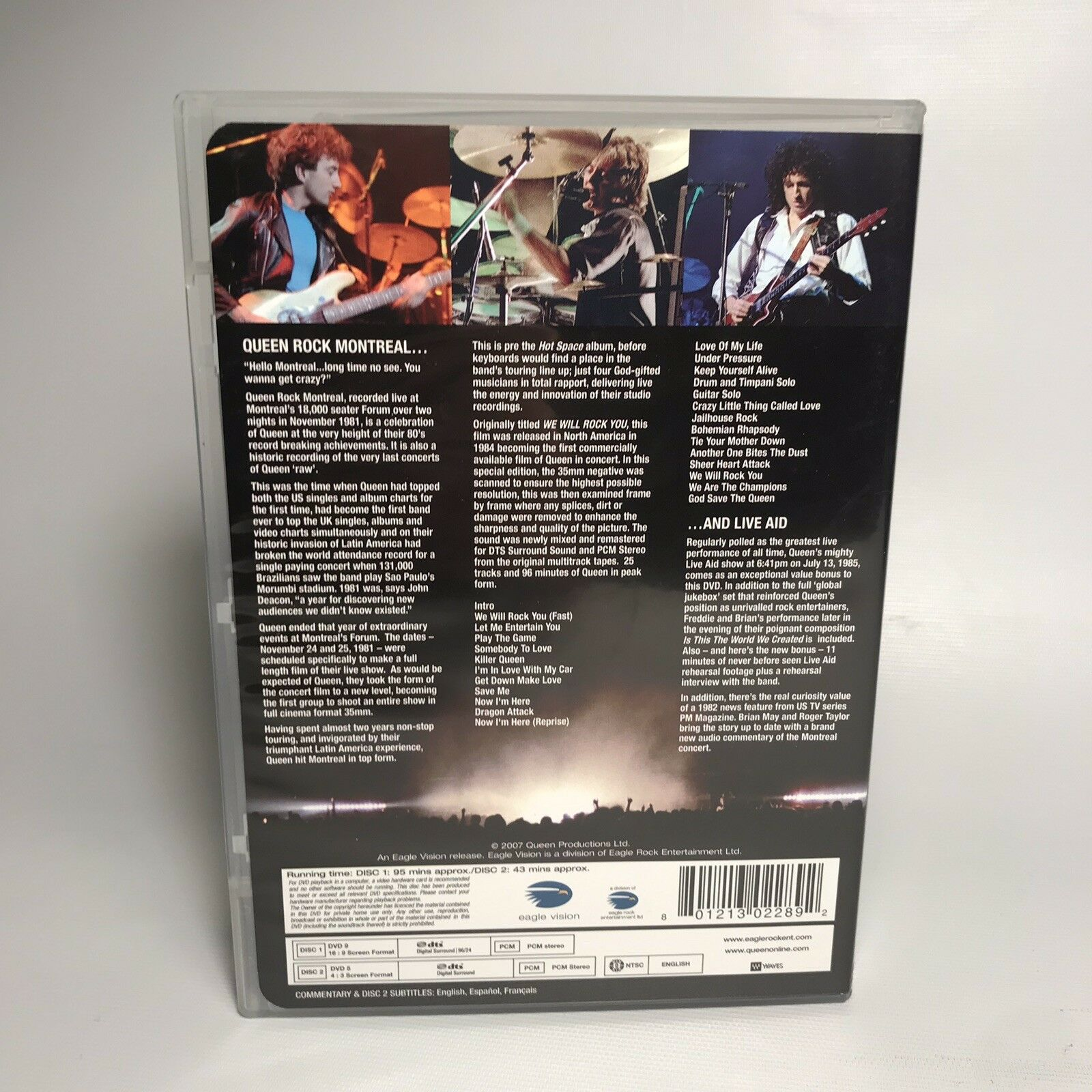 Queen Rock Montreal Live Aid Dvd 2007 2 Disc Set Special Edition Including Live Aid Concert For Sale Online Ebay