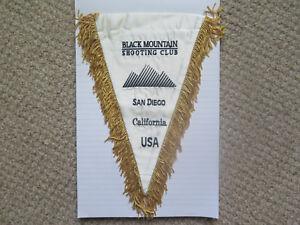 BLACK MOUNTAIN SHOOTING CLUB SAN DIEGO CALIFORNIA USA BANNER FLAG c1980