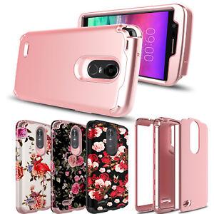 For-LG-Stylo-4-4-Plus-Stylo-3-Shockproof-Hybrid-Armor-Rose-Full-Cover-Phone-Case