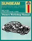Sunbeam Alpine and Rapier Owner's Workshop Manual by Haynes Publishing Group (Paperback, 2014)