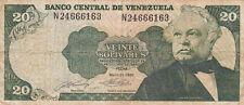 Billet banque VENEZUELA 20 BOLIVARES 1990 état voir scan 163