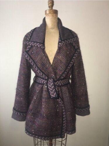 Tweed Plum Mohair Jacket Missoni Sz Coat Medium Purple 42 Vintage pPwHBxtq5t