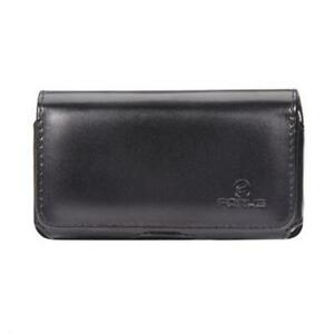BLACK-LEATHER-SIDE-CASE-COVER-PROTECTIVE-POUCH-BELT-CLIP-PORT-for-Smartphones