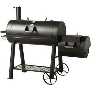 Char-Griller Competition Horizontal Offset Charcoal Wood Smoker BBQ Barrel Grill