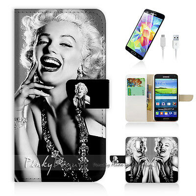 ( For Samsung S5 ) Wallet Case Cover Marilyn Monroe P1371
