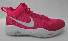 Nike Mens Zoom Rev 2017 Basketball Shoes 852422 616 Vivid Pink/White/Hyper Sz 12