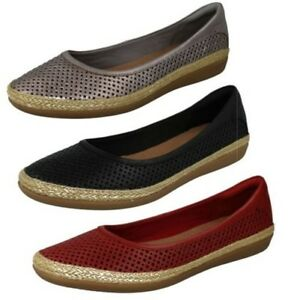 'danelly Ladies Ballerina Clarks Shoes Flat Leather Summer Adira' aaYwSq