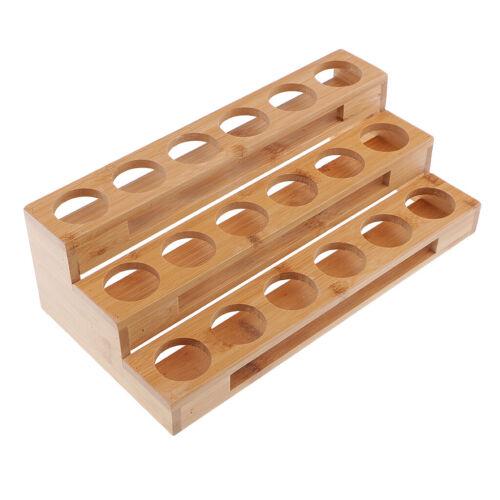 3-Tier 18 détient huile essentielle étagère de rangement en bois organisateur Display Shelf