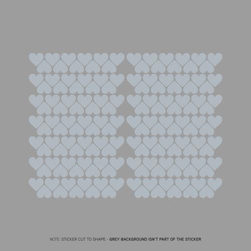 154 x Heart Shape Self Adhesive Vinyl Stickers Peel and Stick 22mm x 19mm