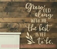 8x10 CARDSTOCK Print ONLY GROW OLD ALONG WITH ME Valentine/'s Day Home Decor