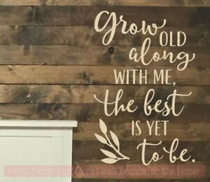 Grow Old Along With Me Love Quotes Wall Decor Vinyl Lettering Decals