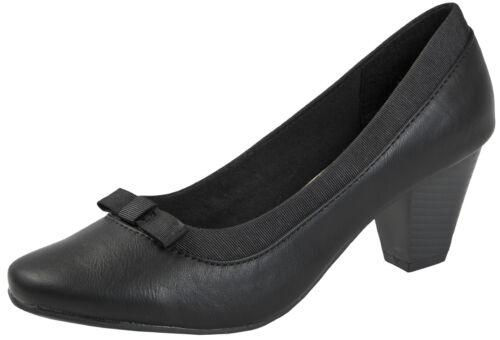 Womens Wide Fitting Low Heel Court Shoes Block Heels Casual Comfort Work Shoes