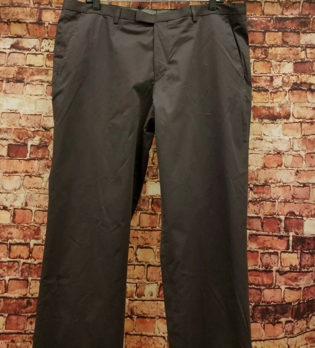 HUGO BOSS LEENON  BROWN CASUAL DRESS PANTS SIZE 38R COTTON BLEND