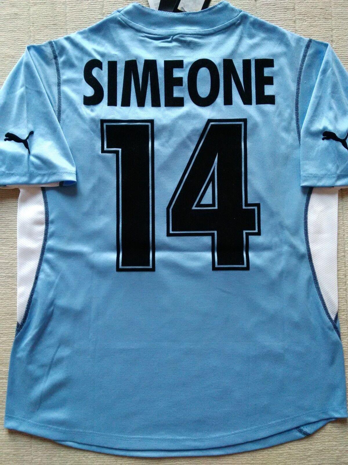 Simeone Lazio camiseta M 2001 2002 jersey shirt puma maglia Serie A