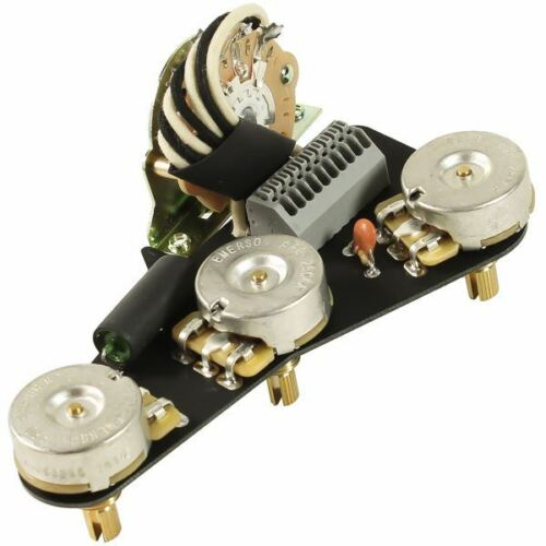 ObsidianWire Custom Blender for Strat pre-wired solderless kit 500k CTS pots