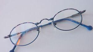 madchenbrille-Children-Children-039-s-Glasses-Frames-Oval-Blue-Spring-Clip-Size-K