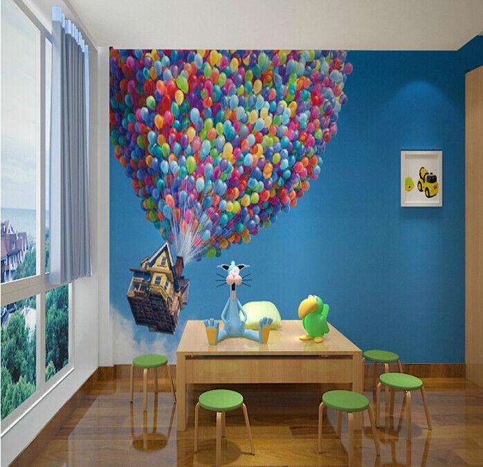 3D Fliegende Ballhütte 85 Tapete Wandgemälde Tapete Tapeten Bild Familie DE