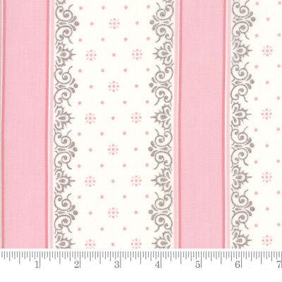 Per 1//4 Metre Moda Fabric Lily Will Revisited Nighty Night Stripe Pink