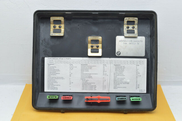 1995 Bmw 540i Rear Seat Fuse Box Cover Lid Seal Diagram