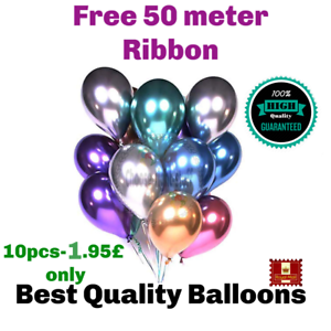 10-20-PEARL-LATEX-METALLIC-CHROME-BALLOONS-12-034-Helium-Baloon-Birthday-Party