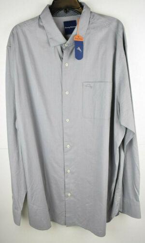 Tommy Bahama Pebble Grey Mens Button up L//S Shirt NWT $110 Size XLT-3XB