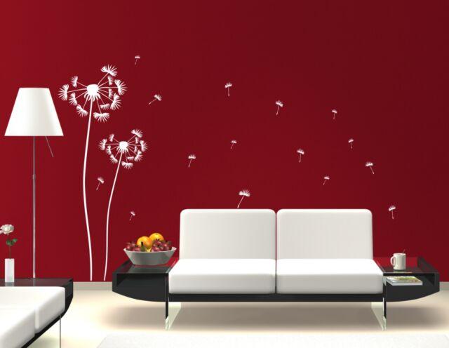 Wandtattoo Wandtatoo Aufkleber Pusteblume Blume 2er Set 120 cm und 160 cm hoch