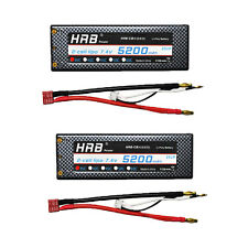 2pcs HRB 5200mAH 7.4V 35C-70C Lipo Battery Hard Case 1/10 TRAXXAS Car RC ROAR