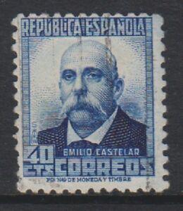 Espana-1932-40c-Azul-de-Ultramar-Sello-Con-Figuras-En-Espalda-Usado-Sg