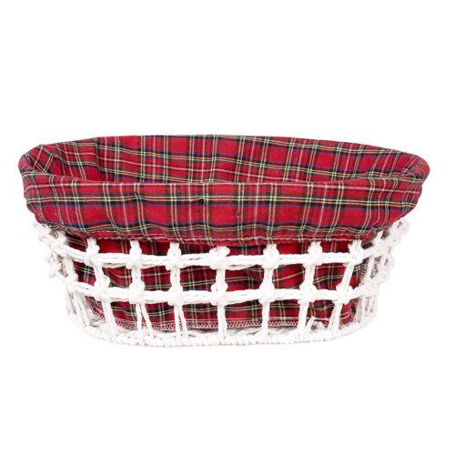 Metal Frame Seagrass Storage Basket Empty Gift Hamper Lining Wicker Bread Basket