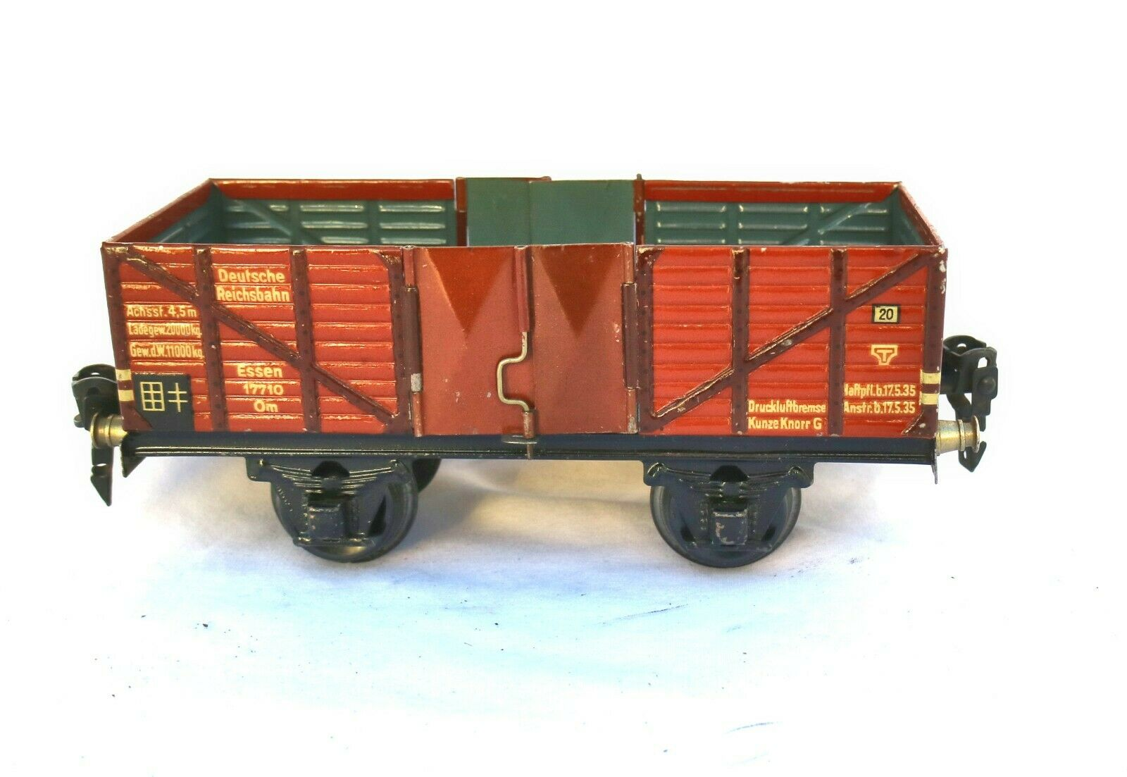900M  Vintage marklin O Gauge High Sided Open Goods Wagon 17710