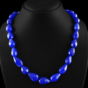 454-60-CTS-EARTH-MINED-RICH-BLUE-SAPPHIRE-PEAR-FACETED-BEADS-NECKLACE-STRAND