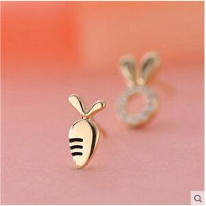 Lovely-Asymmetry-Tiny-Rabbit-Carrot-Stud-Earrings-for-Women-Party-Gift-Jewelry