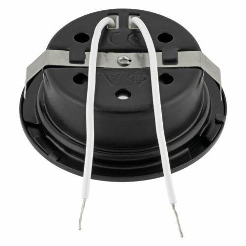 2in1 Spot G4 Möbel Einbauleuchte Schalterdose Metall Einbaustrahler schwarz