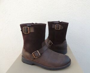 4bd94ad9ab7 Details about UGG MESSNER WATER-PROOF LEATHER/ SHEEPWOOL BUCKLE BOOTS, MEN  US 9/ EUR 42 ~NEW