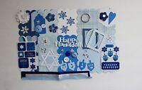 Happy Hanukkah Holiday Custom Chipboard Mini Book Album Kit (scrapbook)