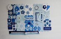 Happy Hanukkah Holiday Custom Chipboard Mini Book Album Kit (scrapbook)