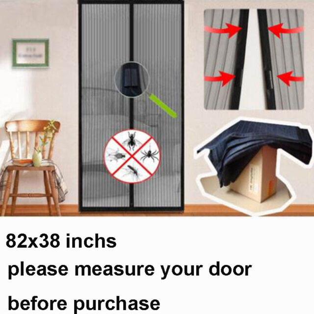 Anti Mosquito Screen Door Hands Net Mesh Bug Fly Pet Patio All Size