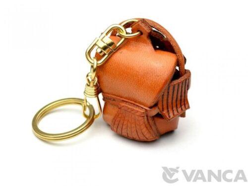 Ebisu-God Handmade 3D Leather L Keychain *VANCA* Made in Japan #56854